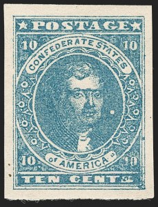 Sale Number 1192, Lot Number 892, Confederate States: General Issues off-Cover10c Dark Blue, Hoyer & Ludwig (2b), 10c Dark Blue, Hoyer & Ludwig (2b)