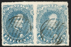 Sale Number 1192, Lot Number 901, Confederate States: General Issues off-Cover5c Blue, Stone 2 (4), 5c Blue, Stone 2 (4)