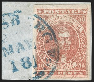 Sale Number 1192, Lot Number 903, Confederate States: General Issues off-Cover10c Deep Rose, Scratched Stone (5 var), 10c Deep Rose, Scratched Stone (5 var)