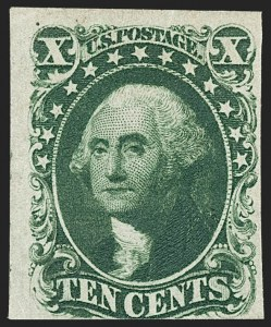 Sale Number 1192, Lot Number 91, 1851-56 Issue (Scott 5-17)10c Green, Ty. I (13), 10c Green, Ty. I (13)