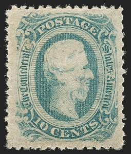 Sale Number 1192, Lot Number 918, Confederate States: General Issues off-Cover10c Blue, Die B, Perforated (12f), 10c Blue, Die B, Perforated (12f)