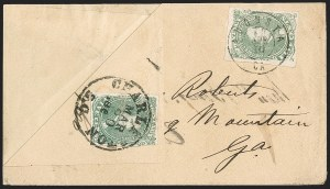Sale Number 1192, Lot Number 926, Confederate States: General Issues on-Cover, Lithograph Issues5c Green (1), 5c Green (1)