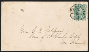 Sale Number 1192, Lot Number 934, Confederate States: General Issues on-Cover, Lithograph Issues5c Green, Stone 2 (1), 5c Green, Stone 2 (1)