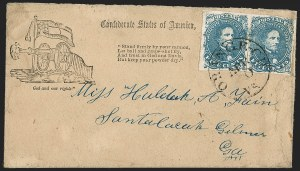 Sale Number 1192, Lot Number 944, Confederate States: General Issues on-Cover, Lithograph Issues5c Blue, Stone 2 (4), 5c Blue, Stone 2 (4)