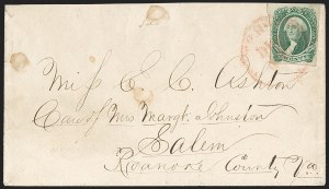 Sale Number 1192, Lot Number 967, Confederate States: General Issues on-Cover, Typograph and Engraved Issues20c Green (13), 20c Green (13)