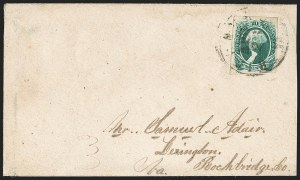 Sale Number 1192, Lot Number 968, Confederate States: General Issues on-Cover, Typograph and Engraved Issues20c Green (13), 20c Green (13)