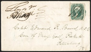 Sale Number 1192, Lot Number 969, Confederate States: General Issues on-Cover, Typograph and Engraved Issues20c Green (13), 20c Green (13)