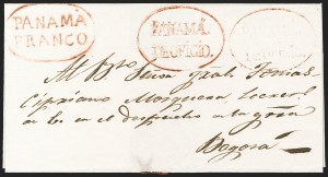 "Sale Number 1193, Lot Number 1512, New Granada & Grenadine Confederation - PanamaPANAMA, 1838 ""PANAMA FRANCO"" and ""PANAMA DE OFICIO"", PANAMA, 1838 ""PANAMA FRANCO"" and ""PANAMA DE OFICIO"""