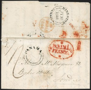 "Sale Number 1193, Lot Number 1515, New Granada & Grenadine Confederation - PanamaPANAMA, 1844 ""PANAMA FRANCO"" with Stars, PANAMA, 1844 ""PANAMA FRANCO"" with Stars"