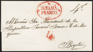 "Sale Number 1193, Lot Number 1516, New Granada & Grenadine Confederation - PanamaPANAMA, 1846 ""PANAMA FRANCO"" with Stars, PANAMA, 1846 ""PANAMA FRANCO"" with Stars"