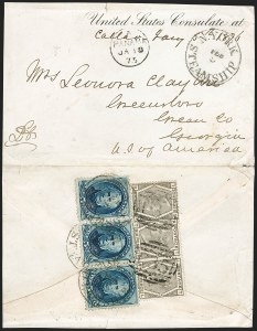 "Sale Number 1193, Lot Number 1562, Great Britain Stamps Used in Panama - ""C35""BRITISH POSTAL AGENCY, Panama, 1876, 6p Gray (A115; SG Z96), BRITISH POSTAL AGENCY, Panama, 1876, 6p Gray (A115; SG Z96)"