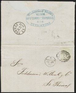 "Sale Number 1193, Lot Number 1563, Great Britain Stamps Used in Panama - ""C35""BRITISH POSTAL AGENCY, Panama, 1877, 4p Sage Green (A104; SG Z87), BRITISH POSTAL AGENCY, Panama, 1877, 4p Sage Green (A104; SG Z87)"