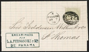 "Sale Number 1193, Lot Number 1564, Great Britain Stamps Used in Panama - ""C35""BRITISH POSTAL AGENCY, Panama, 1877, 4p Sage Green (A104; SG Z87), BRITISH POSTAL AGENCY, Panama, 1877, 4p Sage Green (A104; SG Z87)"