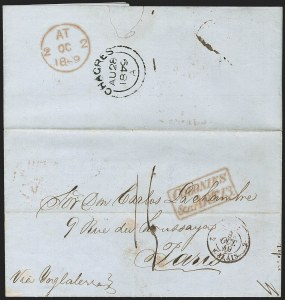 "Sale Number 1193, Lot Number 1567, British Postal Agencies - Chagres & ColonBRITISH POSTAL AGENCY, Chagres, 1849 ""Chagres"" Double-Arc Datestamp, BRITISH POSTAL AGENCY, Chagres, 1849 ""Chagres"" Double-Arc Datestamp"