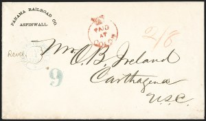 "Sale Number 1193, Lot Number 1569, British Postal Agencies - Chagres & ColonBRITISH POSTAL AGENCY, Colon, 1868, Red ""Paid at Colon"" Crowned Circle Handstamp (A53; SG CC4), BRITISH POSTAL AGENCY, Colon, 1868, Red ""Paid at Colon"" Crowned Circle Handstamp (A53; SG CC4)"