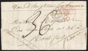 Sale Number 1193, Lot Number 1574, French Postal Agencies - Incl. British CombinationsFRENCH POSTAL AGENCY, Panama, 1844-1866 Covers to, from and via Panama, FRENCH POSTAL AGENCY, Panama, 1844-1866 Covers to, from and via Panama