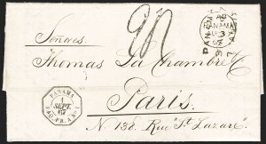 Sale Number 1193, Lot Number 1575, French Postal Agencies - Incl. British CombinationsBRITISH & FRENCH POSTAL AGENCY in Panama, 1867, Dual Postal Agency Use, BRITISH & FRENCH POSTAL AGENCY in Panama, 1867, Dual Postal Agency Use