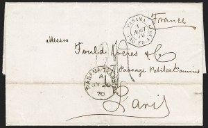 Sale Number 1193, Lot Number 1579, French Postal Agencies - Incl. British CombinationsBRITISH & FRENCH POSTAL AGENCY in Panama, 1870, Dual Postal Agency Use, BRITISH & FRENCH POSTAL AGENCY in Panama, 1870, Dual Postal Agency Use
