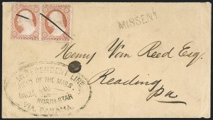 "Sale Number 1193, Lot Number 1620, Via Panama - United StatesVIA PANAMA, United States, 1854 ""Independent Line Ahead of the Mails, Uncle Sam and North Star, via Panama"", VIA PANAMA, United States, 1854 ""Independent Line Ahead of the Mails, Uncle Sam and North Star, via Panama"""