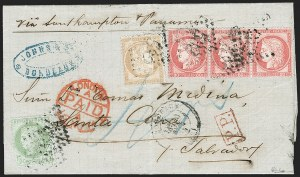 Sale Number 1193, Lot Number 1642, Via Panama - EuropeVIA PANAMA, France, 1872, 80c Rose on Pinkish, Larger Numerals (63; Yvert 57), VIA PANAMA, France, 1872, 80c Rose on Pinkish, Larger Numerals (63; Yvert 57)
