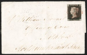 Sale Number 1194, Lot Number 2001, Great BritainGREAT BRITAIN, 1840, 1p Black (1; SG 2; SG Specialised AS15), GREAT BRITAIN, 1840, 1p Black (1; SG 2; SG Specialised AS15)