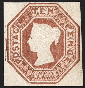 Sale Number 1194, Lot Number 2004, Great BritainGREAT BRITAIN, 1848, 10p Red Brown (6; SG 57), GREAT BRITAIN, 1848, 10p Red Brown (6; SG 57)