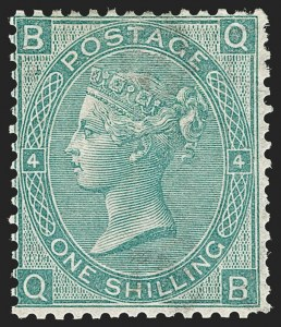 Sale Number 1194, Lot Number 2013, Great BritainGREAT BRITAIN, 1865, 1sh Green (48; SG 101), GREAT BRITAIN, 1865, 1sh Green (48; SG 101)