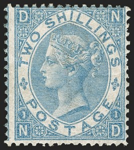 Sale Number 1194, Lot Number 2015, Great BritainGREAT BRITAIN, 1867, 2sh Blue (55; SG 118), GREAT BRITAIN, 1867, 2sh Blue (55; SG 118)