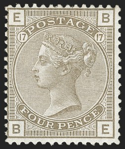 Sale Number 1194, Lot Number 2018, Great BritainGREAT BRITAIN, 1880, 4p Gray Brown (71; SG 154), GREAT BRITAIN, 1880, 4p Gray Brown (71; SG 154)