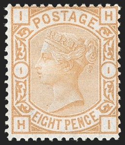 Sale Number 1194, Lot Number 2019, Great BritainGREAT BRITAIN, 1876, 8p Orange (73; SG 156), GREAT BRITAIN, 1876, 8p Orange (73; SG 156)