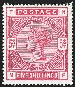 Sale Number 1194, Lot Number 2023, Great BritainGREAT BRITAIN, 1884, 5sh Carmine Rose (108; SG 180), GREAT BRITAIN, 1884, 5sh Carmine Rose (108; SG 180)