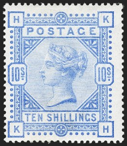 Sale Number 1194, Lot Number 2024, Great BritainGREAT BRITAIN, 1884, 10sh Ultramarine (109; SG 183), GREAT BRITAIN, 1884, 10sh Ultramarine (109; SG 183)