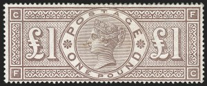 Sale Number 1194, Lot Number 2025, Great BritainGREAT BRITAIN, 1884, £1 Brown Violet (110; SG 185), GREAT BRITAIN, 1884, £1 Brown Violet (110; SG 185)