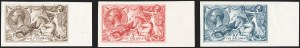 "Sale Number 1194, Lot Number 2030, Great Britain - Imprimaturs from British Postal Museum ArchiveGREAT BRITAIN, 1926, 2sh6p-10sh Bradbury Wilkinson Seahorses, ""Dry Printing"" Imprimaturs (179-181 vars; SG 413a-417 vars), GREAT BRITAIN, 1926, 2sh6p-10sh Bradbury Wilkinson Seahorses, ""Dry Printing"" Imprimaturs (179-181 vars; SG 413a-417 vars)"