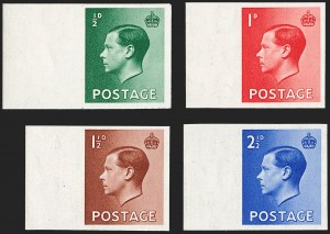 Sale Number 1194, Lot Number 2033, Great Britain - Imprimaturs from British Postal Museum ArchiveGREAT BRITAIN, 1936, -1/2p-2-1/2p King Edward VIII, Imprimaturs (230-233 vars; SG 457-460 vars), GREAT BRITAIN, 1936, -1/2p-2-1/2p King Edward VIII, Imprimaturs (230-233 vars; SG 457-460 vars)