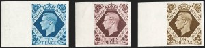 Sale Number 1194, Lot Number 2034, Great Britain - Imprimaturs from British Postal Museum ArchiveGREAT BRITAIN, 1937-47, -1/2p-1sh King George VI Definitives, Imprimaturs (235-248 vars; SG 462-475 vars), GREAT BRITAIN, 1937-47, -1/2p-1sh King George VI Definitives, Imprimaturs (235-248 vars; SG 462-475 vars)