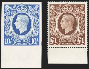 Sale Number 1194, Lot Number 2035, Great Britain - Imprimaturs from British Postal Museum ArchiveGREAT BRITAIN, 1939-48, 2sh6p-£1 King George VI Arms, Imprimaturs (249-251A vars, 275 var; SG 476-478c vars), GREAT BRITAIN, 1939-48, 2sh6p-£1 King George VI Arms, Imprimaturs (249-251A vars, 275 var; SG 476-478c vars)