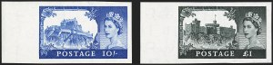 Sale Number 1194, Lot Number 2039, Great Britain - Imprimaturs from British Postal Museum ArchiveGREAT BRITAIN, 1955, 2sh6p-£1 Castles, Waterlow Printing, Imprimaturs (309-312 vars; SG 536-539 vars), GREAT BRITAIN, 1955, 2sh6p-£1 Castles, Waterlow Printing, Imprimaturs (309-312 vars; SG 536-539 vars)