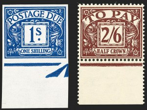 Sale Number 1194, Lot Number 2043, Great Britain - Imprimaturs from British Postal Museum ArchiveGREAT BRITAIN, 1937-38, -1/2p-2sh6p Postage Dues, Imprimaturs (J26-J33; SG D27-D34), GREAT BRITAIN, 1937-38, -1/2p-2sh6p Postage Dues, Imprimaturs (J26-J33; SG D27-D34)