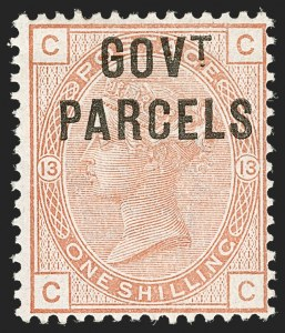Sale Number 1194, Lot Number 2049, Great Britain - Officials thru Offices AbroadGREAT BRITAIN, 1883, 1sh Salmon Govt. Parcels Official (O30; SG O64), GREAT BRITAIN, 1883, 1sh Salmon Govt. Parcels Official (O30; SG O64)
