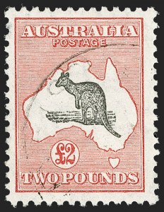 Sale Number 1194, Lot Number 2081, Antigua thru BahamasAUSTRALIA, 1930, £2 Dull Red & Black, Small Multiple Watermark (102; SG 114; BW 57(A)), AUSTRALIA, 1930, £2 Dull Red & Black, Small Multiple Watermark (102; SG 114; BW 57(A))