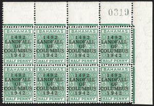 Sale Number 1194, Lot Number 2083, Antigua thru BahamasBAHAMAS, 1942, -1/2p Landfall of Columbus, Accent Flaw (SG 162c), BAHAMAS, 1942, -1/2p Landfall of Columbus, Accent Flaw (SG 162c)