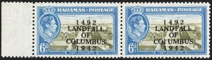 "Sale Number 1194, Lot Number 2086, Antigua thru BahamasBAHAMAS, 1942, 6p Landfall of Columbus, ""COIUMBUS"" Error (SG 169a), BAHAMAS, 1942, 6p Landfall of Columbus, ""COIUMBUS"" Error (SG 169a)"