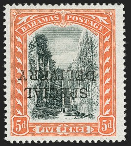 Sale Number 1194, Lot Number 2088, Antigua thru BahamasBAHAMAS, 1916, 5p Special Delivery, Inverted Overprint (E1b, SG S1c), BAHAMAS, 1916, 5p Special Delivery, Inverted Overprint (E1b, SG S1c)