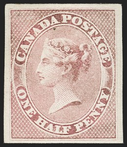 Sale Number 1194, Lot Number 2145, CanadaCANADA, 1857, -1/2p Lilac Rose (Unitrade 8i; SG 17), CANADA, 1857, -1/2p Lilac Rose (Unitrade 8i; SG 17)