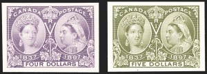 Sale Number 1194, Lot Number 2146, CanadaCANADA, 1897, -1/2c-$5.00 Jubilee, Plate Proofs on Card (50P-65P), CANADA, 1897, -1/2c-$5.00 Jubilee, Plate Proofs on Card (50P-65P)