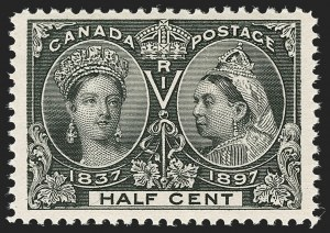 Sale Number 1194, Lot Number 2148, CanadaCANADA, 1897, -1/2c Jubilee (50), CANADA, 1897, -1/2c Jubilee (50)