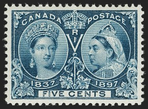 Sale Number 1194, Lot Number 2149, CanadaCANADA, 1897, 5c Jubilee (54), CANADA, 1897, 5c Jubilee (54)