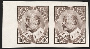 Sale Number 1194, Lot Number 2167, CanadaCANADA, 1903-08, 1c, 5c, 7c, 10c King Edward VII, Imperforate (89a/93a), CANADA, 1903-08, 1c, 5c, 7c, 10c King Edward VII, Imperforate (89a/93a)