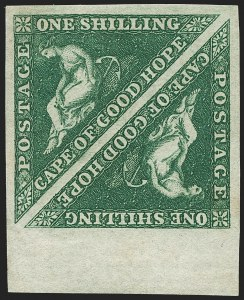 Sale Number 1194, Lot Number 2206, Cape of Good HopeCAPE OF GOOD HOPE, 1859, 1sh Dark Green (6a; SG 8b), CAPE OF GOOD HOPE, 1859, 1sh Dark Green (6a; SG 8b)